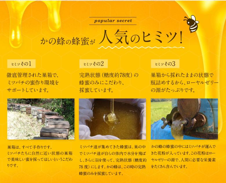 かの蜂の蜂蜜が人気の秘密