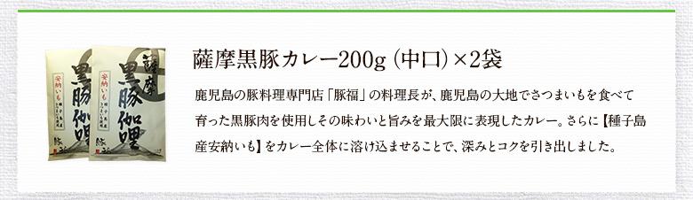 薩摩黒豚カレー(中口)
