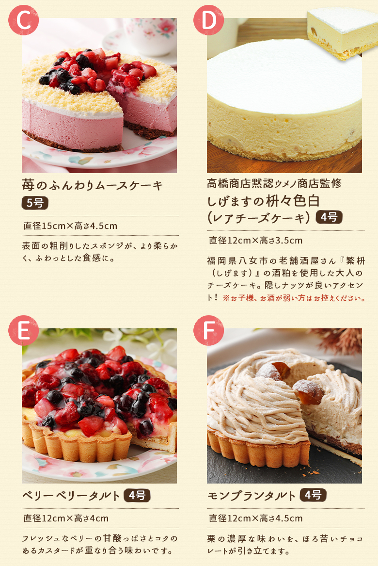 2種類選べるケーキセット